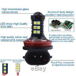2Pcs H11 H8 H9 H16 3030 30SMD LED Fog Light Conversion Kit Upgrade 6000K White