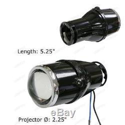 2.5 Bullet Projector Lens Fog Light Lamps + 10000K HID Kit Combo Deal with Wire