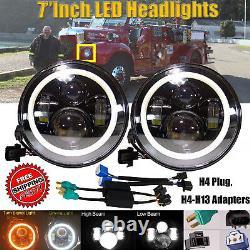 2x7LED Headlight lamp Bulb H4-H13 Beam DRL Upgrade For Mack Granite Trucks V713