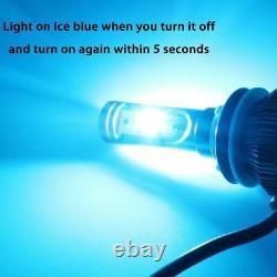 2x Dual 6000K 8000K White Ice Blue H7 LED Headlight High Low Beam Conversion Kit