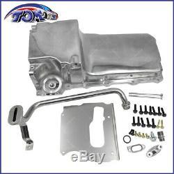 302-1 Polished LS Swap Retrofit Oil Pan Conversion Kit GM V8 Impala Chevelle