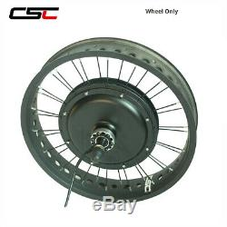 48V Electric Snow Bike Conversion Kit Hub Motor Snow Wheel Fit 4.0 Tyre