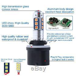 880 899 3030 15SMD LED Fog Lamp Bulb Conversion Kit Super Bright 3000K Yellow US