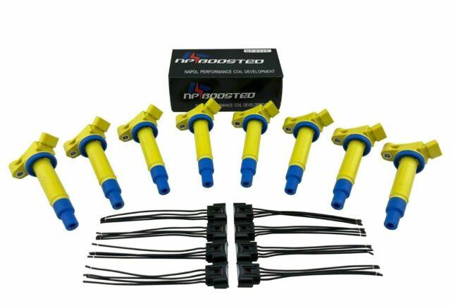 8 Pack Ignition Coils On Plug Conversion Kit With Wires 4.0l V8 1uzfe Non Vvti 4.0