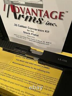 Advantage Arms. 22LR LE Conversion Kit Fits Glk 17 22 Gen 3 With Range Bag