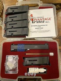 Advantage Arms Conversion Kit 22LR 4.02 Black Range Bag Fits Glock 19/23 Gen 4