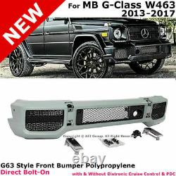 Aftermarket Amg G63 G65 Style Front Bumper Cover Kit Fit 90-2018 G Class G Wagon