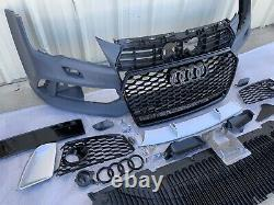 Audi A7 S7 RS7 style front bumper cover grill kit fits 2012-15 C7.0 Quattro
