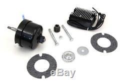 Black 12 Volt Alternator Generator Conversion Kit fits Harley-Davidson