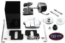 Black 12 Volt Alternator Generator Conversion Kit fits Harley Davidson, V-Twin