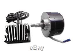 Black 17 Amp 12 Volt Alternator Generator Conversion Kit fits Harley Davidson