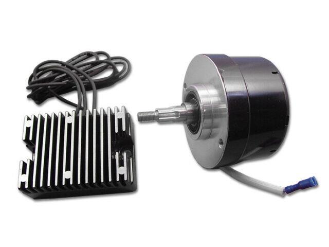Black 17 Amp Alternator Generator Conversion Kit, Fits Harley Davidson Motorcy
