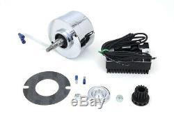 Chrome 12 Volt Alternator Generator Conversion Kit fits Harley Davidson 32-1781