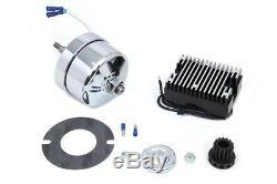 Chrome 12 Volt Alternator Generator Conversion Kit fits Harley Davidson, V-Twi