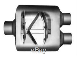 Conversion dual pipes exhaust kit fits GMC Chevy trucks 99 08 Sierra silverdao
