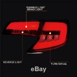 Custom Fiber Optic SMOKE LED Taillights Assembly fit for 2012-2014 Toyota Camry