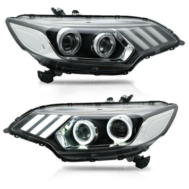Customized Led Headlights With Drl Sequential Turn Signal For 15-20 Honda Fit