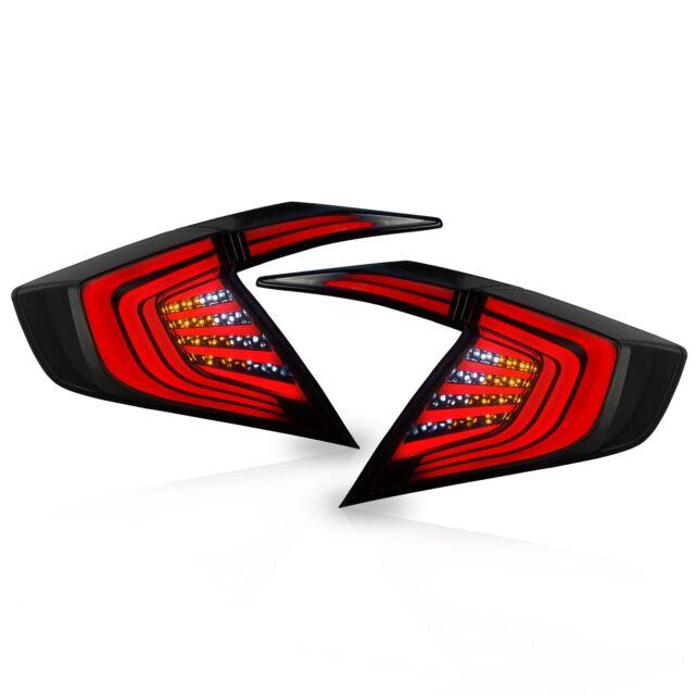 Customized Smoked Led Tail Lights Assembly Fit For 2016-2017 Honda Civic