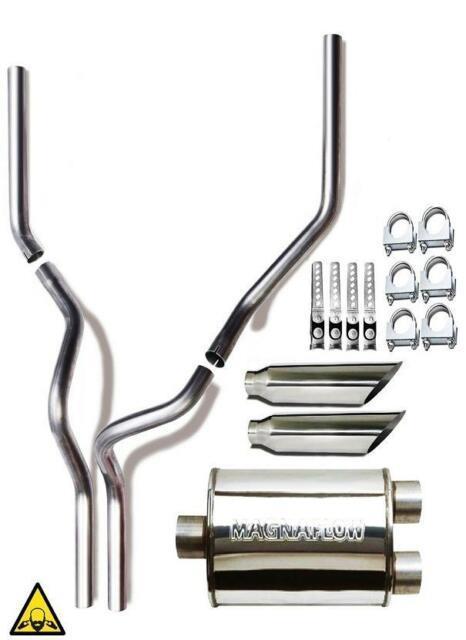 Dual 2.5 Exhaust Conversion Kit Fits Ford Trucks F-150 F-250 Magnaflow Muffler