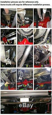 Dual 2.5 mandrel pipe conversion exhaust kit fits 2006 2008 dodge Ram 1500