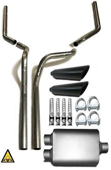 Dual Exhaust Conversion Kit Fits 2000 2006 Toyota Tundra