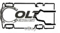 Dual Exhaust pipes Conversion kit Fits 87 02 Ford pick up trucks F-150 F-250