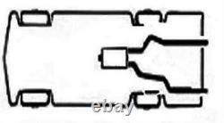 Dual Pipe Conversion Exhaust Kit fits Ford f-150 truck 04 08 Short muffler