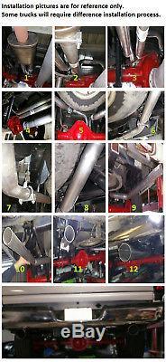 Dual pipe conversion exhaust kit fits GMC Chevy truck 99 08 Short muffler 2.25