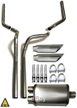 Dual pipes conversion exhaust kit fits 2002 2005 Dodge Rams trucks