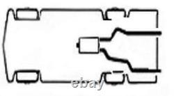 Dual pipes conversion exhaust kit fits 93 02 GMC / Chevy C, K trucks 2.5