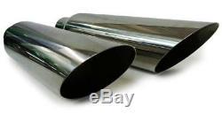 Dual pipes exhaust kit fits GMC Chevy trucks 99 08 Sierra silverdao Mandrel