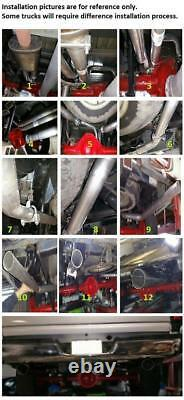 Dual truck conversion exhaust Kit Fits GMC Chevy 1999 2008 short muffler