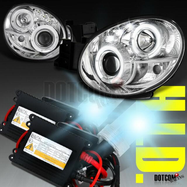 Fit 02-03 Impreza Wrx Halo Clear Projector Headlight+h1 Hid Conversion Kit Pair