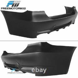 Fit 06-11 E90 E91 3 Series M3 Style Rear Bumper Conversion Cover + Lip Diffuser