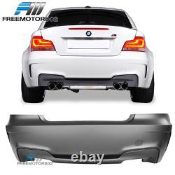 Fit 07-13 BMW E82 E88 1 Series 1M Style Rear Bumper Conversion + Rear Diffuser