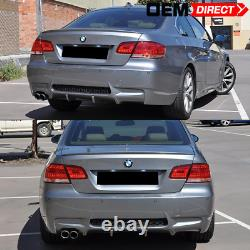 Fit 07-13 BMW E92 E93 3 Series M3 Style Rear Conversion Single Exhaust Bumper