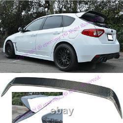 Fit 08-14 Impreza WRX STi 5Drs Wagon Carbon Fiber Add On Spoiler Wing Body Kit