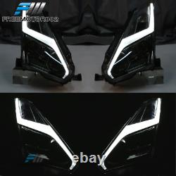 Fit 09-22 Nissan GTR R35 OE Hood + Front Bumper Cover Conversion + LED