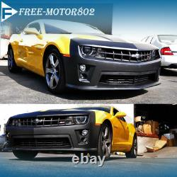 Fit 10-13 Chevolet Camaro ZL1 Conversion Front Bumper Cover Fog light Grille Kit