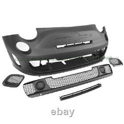 Fit 12-17 Fiat 500 500C Abarth Turbo Style Front Bumper Cover Kit WithO PDC