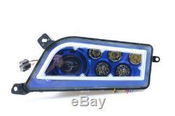Fit 2016-20 Polaris General 1000 2X Blue Led Angel Eye Headlights Conversion Kit