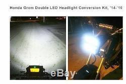 Fit Honda Grom Double Led Headlight Conversion Kit 2014-2016 Chrome Glow ==