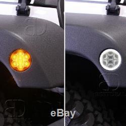 Fit JEEP JK Headlight 7''+Fog Light+Turn Signal+Fender Lamp LED Conversion KIT
