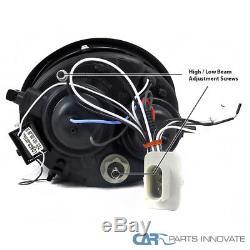 Fit VW 98-05 Beetle Black Halo Projector Headlights+H1 6000K HID Conversion Kit