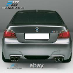 Fits 04-09 E60 E61 5 Series Rear Bumper Conversion M5 Style Dual Outlets