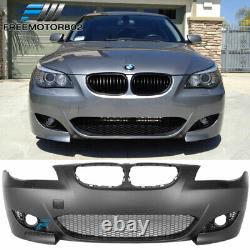Fits 04-10 E60 E61 5-Series Sedan M5 Front Bumper Conversion Cover Fog Cover-PP