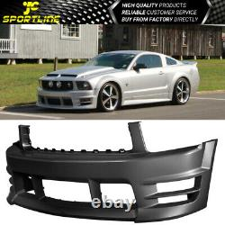Fits 05-09 Ford Mustang V6 Racer Style Front Bumper Cover Conversion BodyKit PP