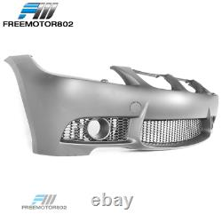 Fits 06-08 BMW E90 E91 3 Series 4Dr M3 Style Front Bumper Conversion Fog Cover