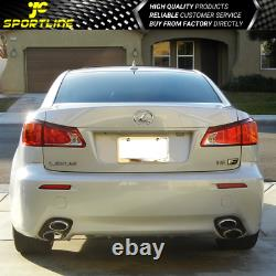 Fits 06-13 Lexus IS250 IS350 ISF Style Rear Bumper Conversion Dual Tip NO PDC