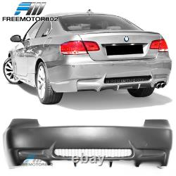 Fits 07-13 BMW E92 E93 2Dr M3 Style Rear Bumper Cover Conversion Single Exhaust